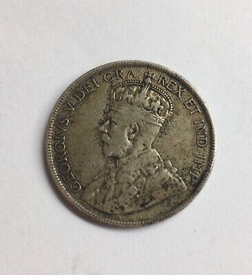 1917 Canadian 50 Cent Coin