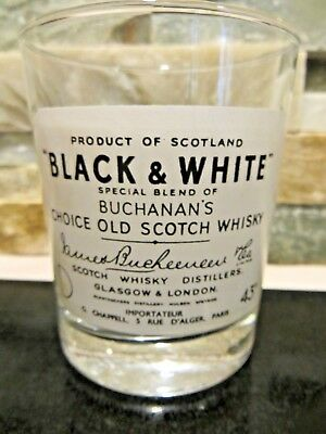 Vintage Scotch Whisky Glass Buchanan's Choice Old Scotch Whiskey collectors blac