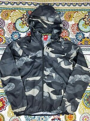 d45e7d41bcd8 Nike Air Hoodie Light Windbreaker Running Jacket Camo Mens Small S Track    Field