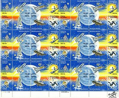 Scott 1912-1919 18 Cent Space Achievements 48 stamps per sheet, VFXF 15.00