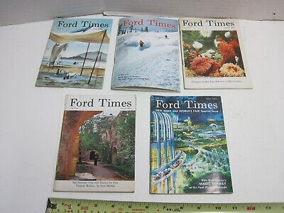 January February March April May 1964 Ford Times Magazine World's Fair Skiing