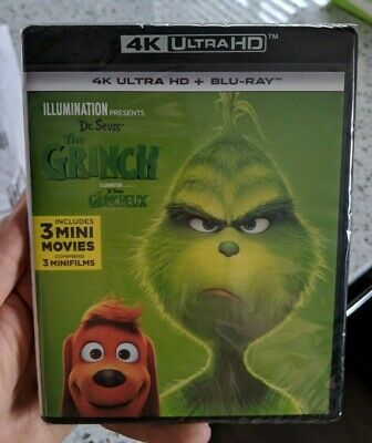 The Grinch (Blu-ray + 4K UHD) BRAND NEW!!