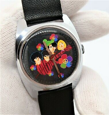 THE MONKEES,Manual Wind 70's Unique,Lamb Leather MEN'S CHARACTER WATCH,1051