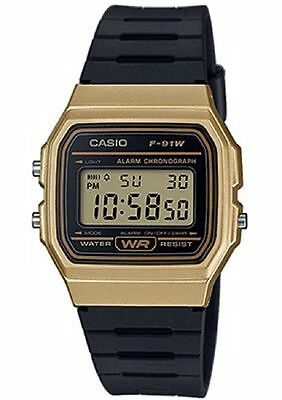 Casio f91WM-9A,   7 Year Battery Chronograph Watch, Black Resin Strap, Alarm