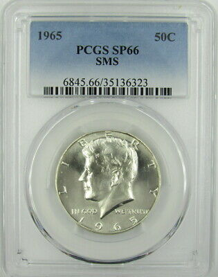 1965 Sms Kennedy Half Dollar Pcgs Sp66