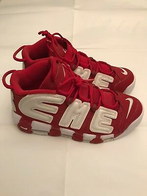d3bef6e4ae NIKE AIR MORE Uptempo 96 Italy Qs Hommes Green White Red Cuir ...