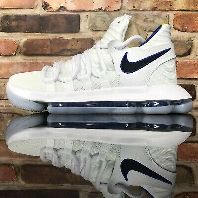 premium selection cd252 d7ca0 Nike Zoom KD 10 LMTD NBA Youth 5.5 Golden State Warriors White Game Royal