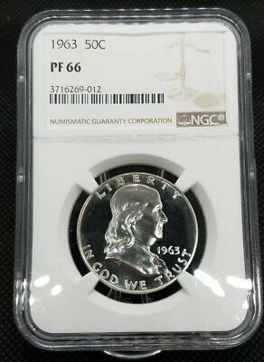 1963 Franklin Half Dollar | NGC PF66 | Beautiful Proof Coin W/ Hints of Cameo!