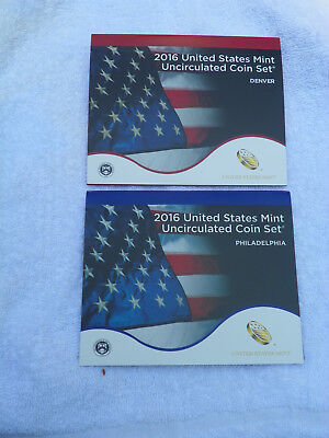 2016 D&P US Mint Uncirculated 26 Coin Sets Including 8 $1 Coins