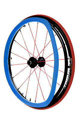 Wheelchair rubber push rim covers by REHADESIGN - ULTRA-GRRRIP PUSHRIM COVERS