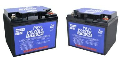 2 X Pro Power 12V Volt 50ah Lithium Iron Deep Cycle Battery Mobility scooter
