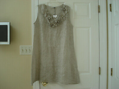 1697b730be ALESSIA PACINI 100%LINEN Dress Size-XS MADE IN ITALY NWT -  29.99 ...