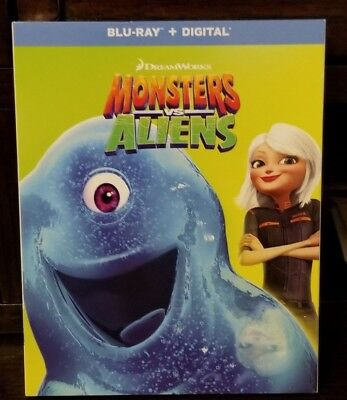 Monsters vs. Aliens (Blu-ray & Digital, 2009,Rated PG, Widescreen) NEW~FREE Ship