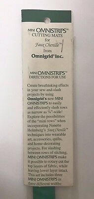 Omnigrid brand Mini Omnistrips Cutting Mats for Quilting Faux Chenille