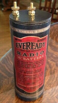 "Antique Refillable #6 Eveready ""A"" Dry Cell Battery Telephone, Radio, Lantern"