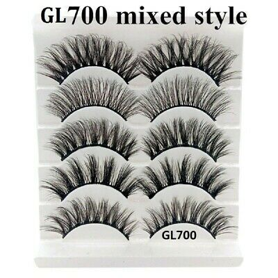 75f0acc1c0d 5 Pairs Multipack Mink Hair False Eyelashes Wispy Fluffy Long Natural Eye  Lashes