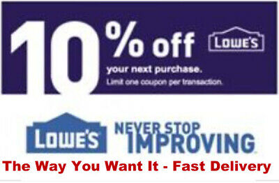 1x Lowes 10% off Getcoupon Fast Now