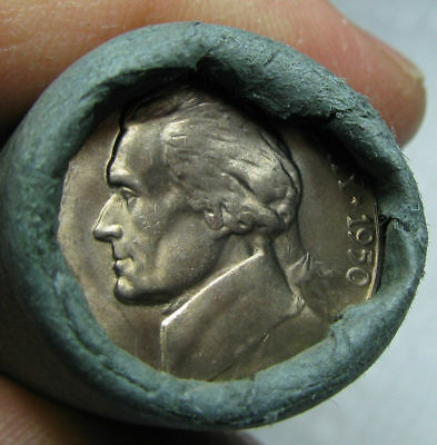 1950 P Obw Original Bank Wrapped Roll Bu Uncirculated Jefferson Nickels