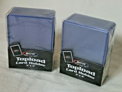 50 3x4 BCW Topload holders - Sport/Trading/Gaming Cards Toploaders