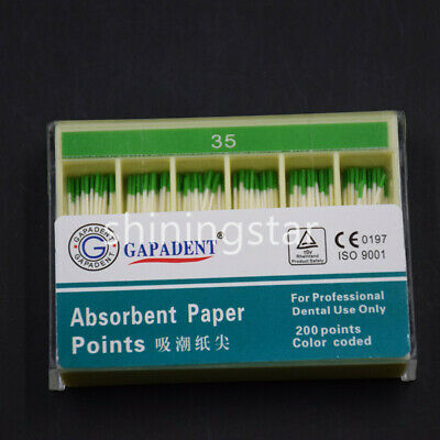 200 Pc/Pack Dental Absorbent Paper Points Sterile Gutta Percha Point Sterile #35