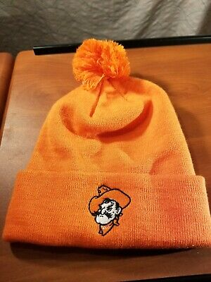 NCAA Top of the World Oklahoma State Cowboys Simple Cuffed Knit Hat with Pom 9a1a22aeb