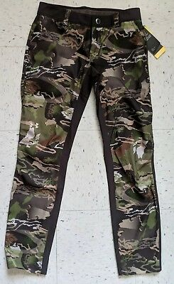 64f5c10948c58 NEW Under Armour Stealth Hunting Forest Camo Storm Field Pants Heat Gear Women  6