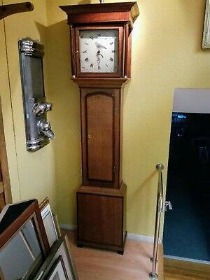 Standuhr Longcase Clock 18th Entury Oak Mahogany perfect restored
