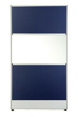 T8 Partition Blue with Whiteboard and Pinboard