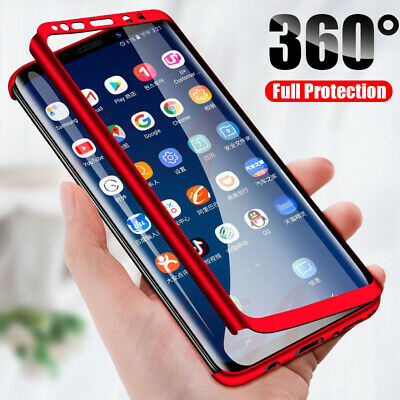 For Samsung Galaxy S10 S9 Plus 360° Full Body Shockproof Hard Slim Case Cover