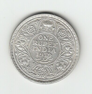 1919 India George V One Rupee (91.7% Silver) - Great Vintage Silver Coin