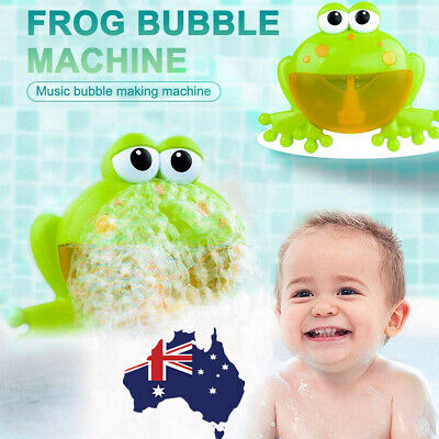 Kids Bubble Tub Frog Automatic Shower Machine Blower Maker Baby Bath Music Toy