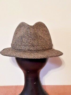 Vintage Retro Mens Italian Hat Wool