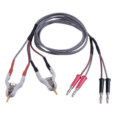 Hot 4 Wires Type Microresistivity Test Lead Cable With 2 Kelvin Clip