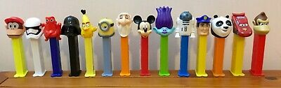 14x Assorted Collectors Pez Dispensers Character Bundle