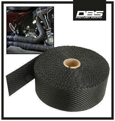 New 50Ft Roll Motorcycle High-Temp Exhaust Header Pipe Thermal Heat Wrap