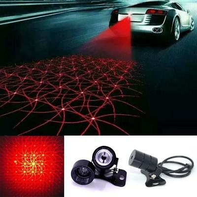 Car cool pattern anti-collision end rear tail fog driving laser caution light UK