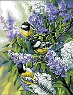 Royal Paris Tapestry/Needlepoint Canvas - The Chickadees