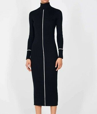 2a5af1f256 ZARA WOMAN NEW 2019 Black Ribbed Dress Ref  3471 008 - EUR 47