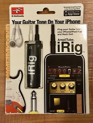 iRig IK Multimedia AmpliTube Guitar MIDI Interface for iPhone/iPad/iPod Pro Tool
