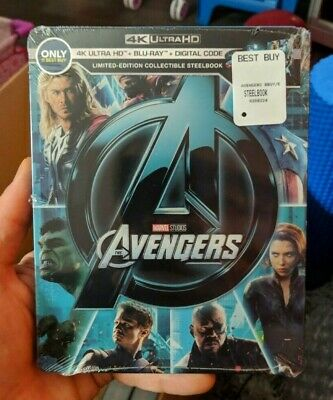 The Avengers - Best Buy Exclusive Steelbook (Blu-ray + 4K UHD) BRAND NEW!!