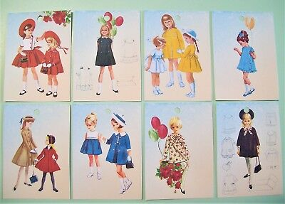 Vintage 1940s 1950s Girls Childs Kids Clothing Luggage Price Tags Cards Labels