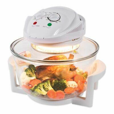 New 12L Halogen Oven Low Fat White 1400W Healthy Cooking Kitchen No Oil