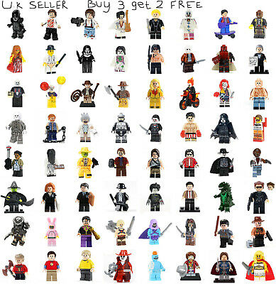 Film Movie Horror Minifigure Robocop IT Sally Shock Chucky Predator Mini Figure