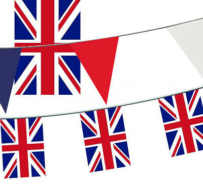 20 Metres Team GB Union Jack Fabric Flag Bunting 66ft