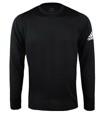 Adidas Men Freelift Sports X BOS Shirts L/S Black Tee Jersey GYM Shirt DQ2846
