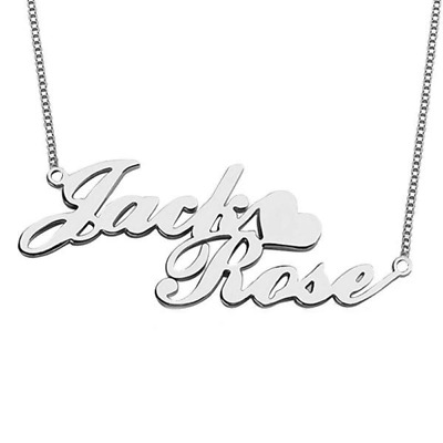 Personalised Carrie Style Name Necklace,925 Silver 18K Yellow Gold Plated