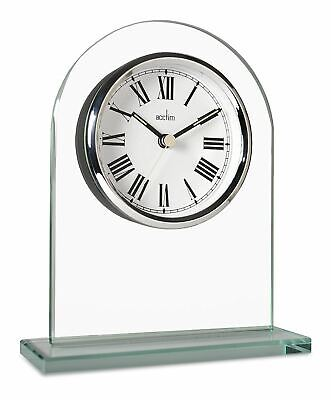 Acctim 36537 Adelaide Mantel Glass Clock, Roman Numerical, 16.4cm
