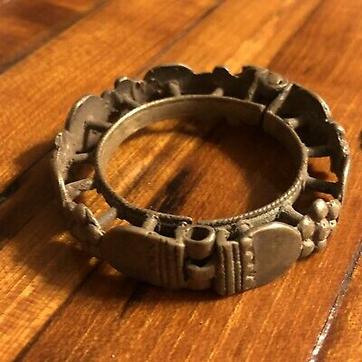 Medieval Antique Cuff Bracelet Old Jewelry Artifact Silver? Ottoman Islamic 2