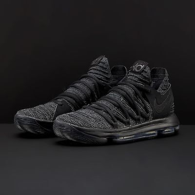 1306c65356c2 NIKE ZOOM KD10 Black Dark Grey Blackout Triple Black 897815 004 Mens ...