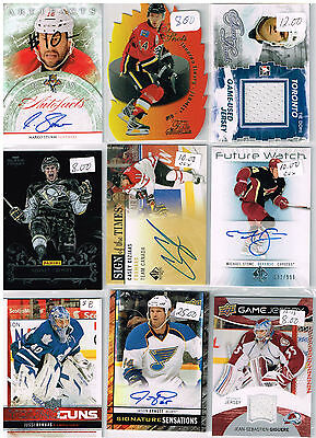 HUGE Lot Of 2012-13 Autos - Game Used - Rookies - Parallels - Inserts - Base